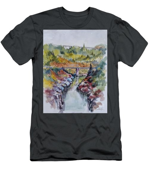 View From No Hands Bridge Men's T-Shirt (Slim Fit) by William Reed