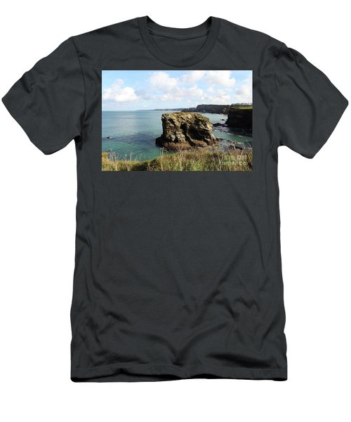 Men's T-Shirt (Slim Fit) featuring the photograph View From Porth Peninsula by Nicholas Burningham