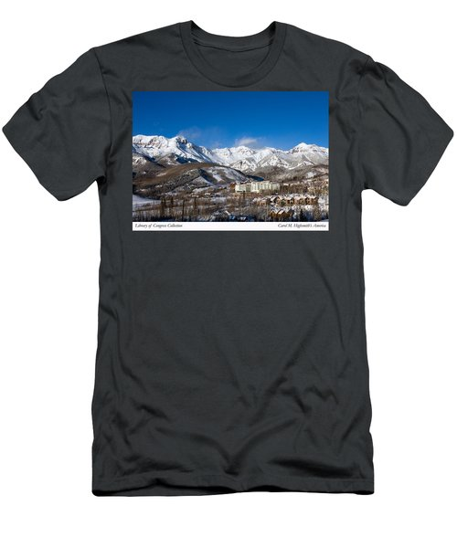 Men's T-Shirt (Slim Fit) featuring the photograph View From The Mountain Above Telluride by Carol M Highsmith