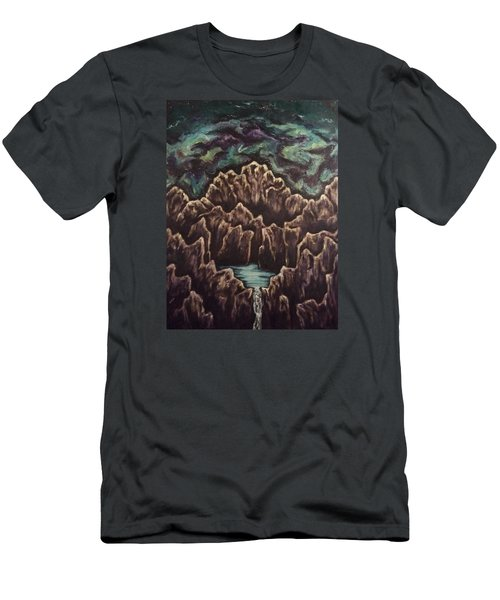View From The Top Men's T-Shirt (Slim Fit) by Cheryl Pettigrew