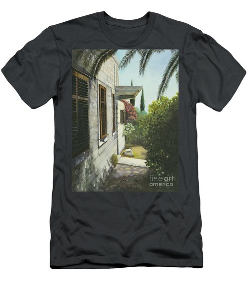 View In A Croatian Garden Men's T-Shirt (Athletic Fit)