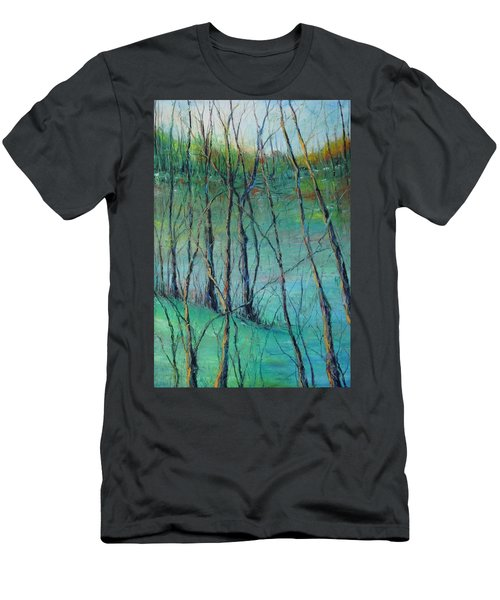 View Of Nature's Canvas Men's T-Shirt (Slim Fit) by Robin Miller-Bookhout