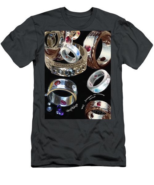 View Of Rings Men's T-Shirt (Athletic Fit)