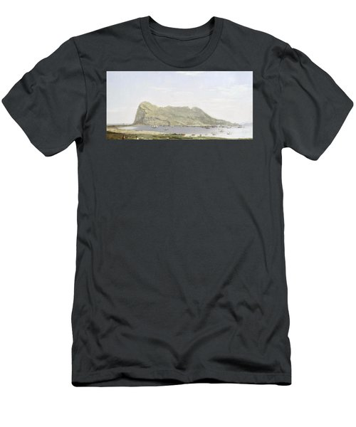 View Of The Rock Of Gibraltar From The Mainland Men's T-Shirt (Athletic Fit)