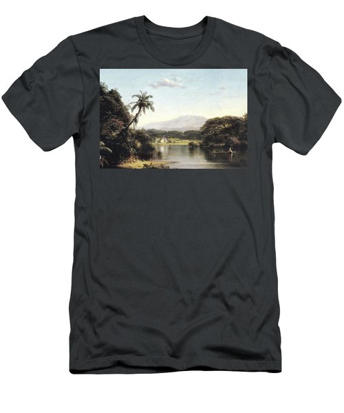 View On The Magdalena River Men's T-Shirt (Athletic Fit)