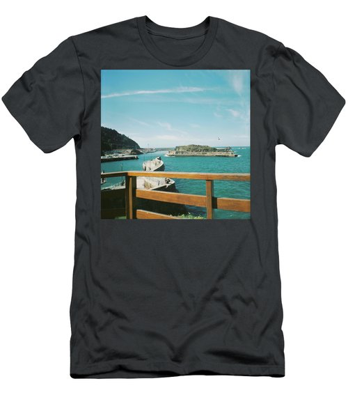 View Over The Ocean Port Men's T-Shirt (Athletic Fit)