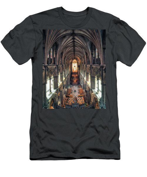 View Through Ely Cathedral Men's T-Shirt (Athletic Fit)