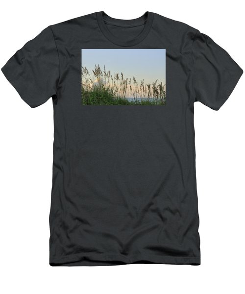 View Through The Sea Oats Men's T-Shirt (Slim Fit) by Bradford Martin