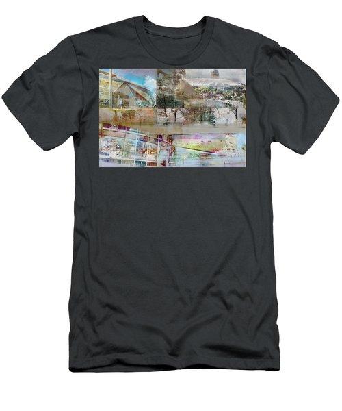 Vikings Stadium Collage 2 Men's T-Shirt (Slim Fit) by Susan Stone