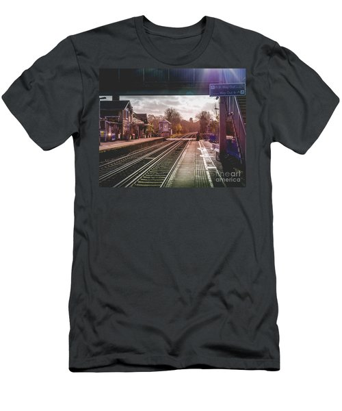 The Village Train Station Men's T-Shirt (Athletic Fit)
