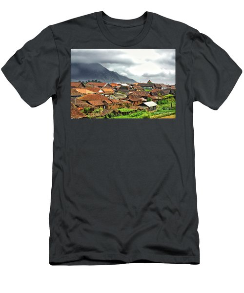 Men's T-Shirt (Slim Fit) featuring the photograph Village View by Charuhas Images