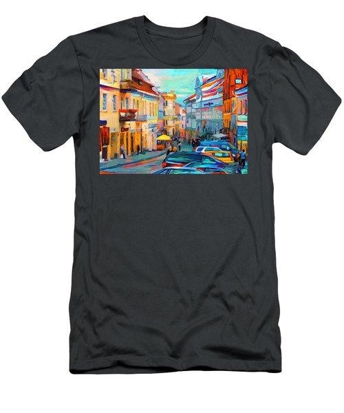 Vilnius At Paint Men's T-Shirt (Athletic Fit)