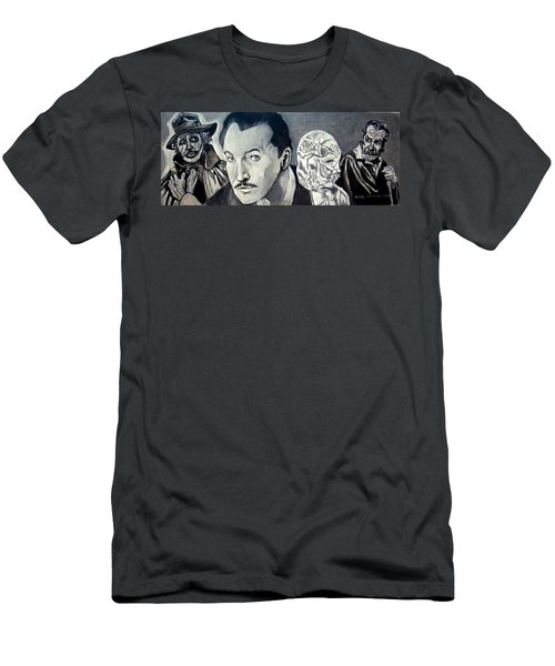 Men's T-Shirt (Slim Fit) featuring the painting Vincent Price by Paul Weerasekera