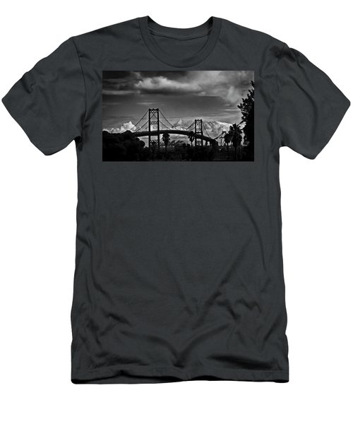 Men's T-Shirt (Slim Fit) featuring the photograph Vincent Thomas Bridge by Joseph Hollingsworth