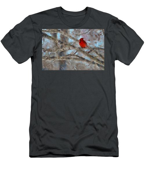 Men's T-Shirt (Slim Fit) featuring the mixed media Vincent by Trish Tritz