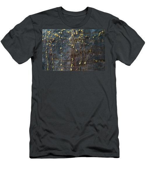 Men's T-Shirt (Slim Fit) featuring the photograph Vines On Rock, Bhimbetka, 2016 by Hitendra SINKAR