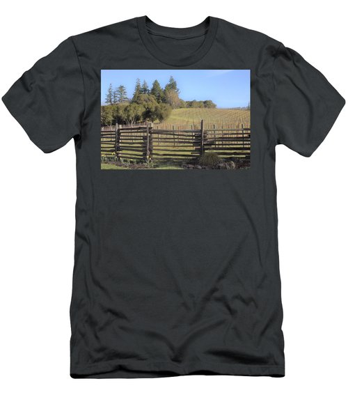 Vineyard In The Spring Men's T-Shirt (Athletic Fit)