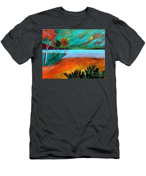 Vinoy Park Twilight Men's T-Shirt (Slim Fit) by Elizabeth Fontaine-Barr