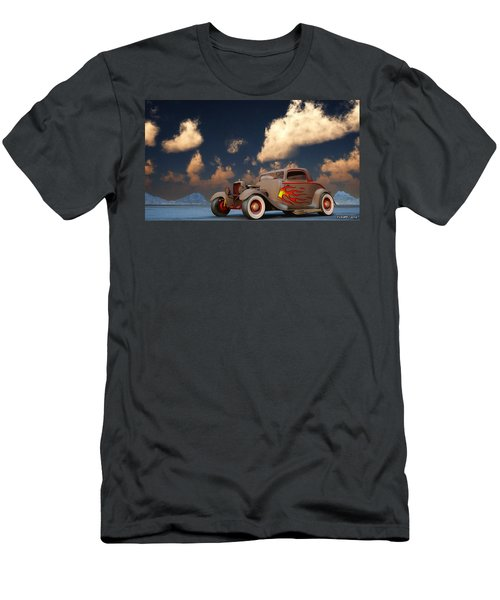 Vintage American Hot Rod Men's T-Shirt (Slim Fit) by Ken Morris