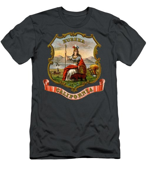Vintage California Coat Of Arms Men's T-Shirt (Athletic Fit)