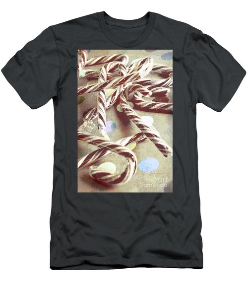 Vintage Candy Canes Men's T-Shirt (Athletic Fit)