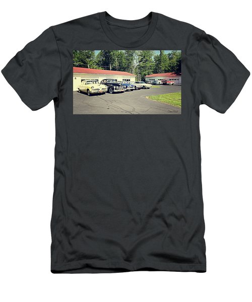 Men's T-Shirt (Athletic Fit) featuring the photograph Vintage Classic Cars by Trina Ansel