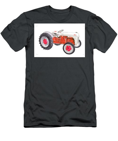Men's T-Shirt (Slim Fit) featuring the painting Vintage Ford Tractor 1941 by Jack Pumphrey