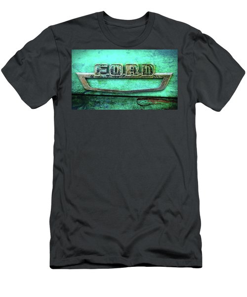 Men's T-Shirt (Slim Fit) featuring the photograph Vintage Ford Truck Logo  by Terry DeLuco