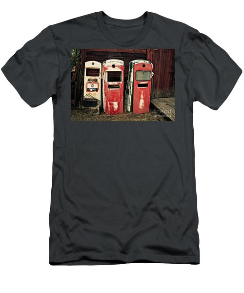 Vintage Gas Pumps Men's T-Shirt (Athletic Fit)