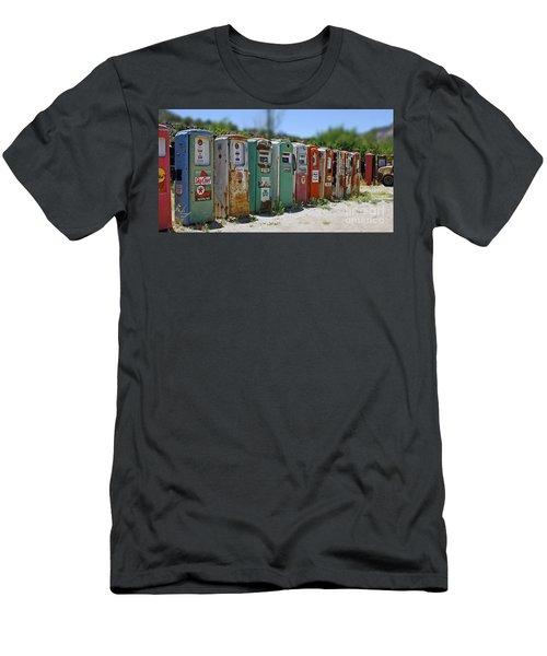 Vintage Gas Pumps Men's T-Shirt (Athletic Fit)
