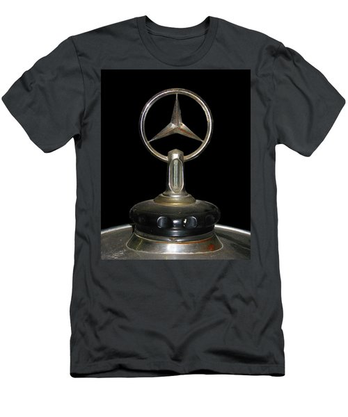 Men's T-Shirt (Slim Fit) featuring the photograph Vintage Mercedes Radiator Cap by David and Carol Kelly