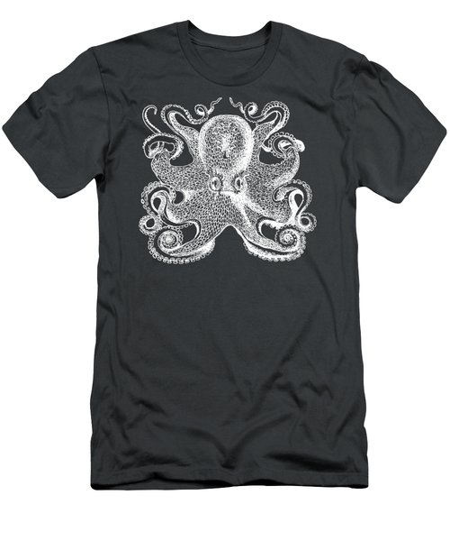 Men's T-Shirt (Slim Fit) featuring the digital art Vintage Octopus Illustration by Edward Fielding
