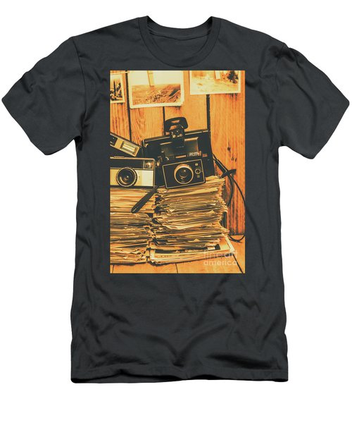 Vintage Photography Stack Men's T-Shirt (Athletic Fit)