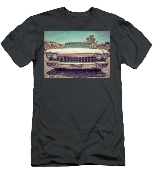 Vintage Pink American Car In The Desert Men's T-Shirt (Athletic Fit)
