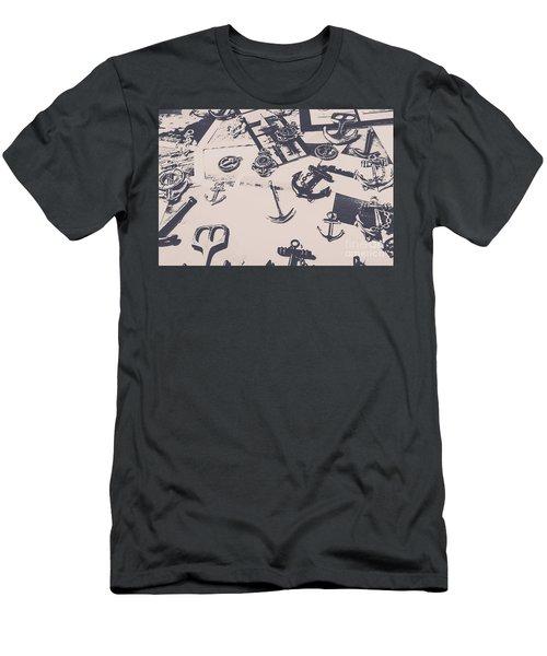 Vintage Sailing Art Men's T-Shirt (Athletic Fit)