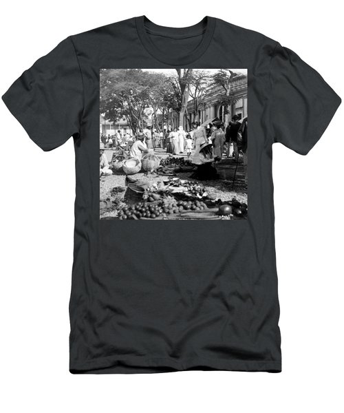 Vintage Street Scene In Ponce - Puerto Rico - C 1899 Men's T-Shirt (Athletic Fit)