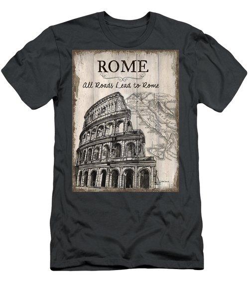 Vintage Travel Poster Men's T-Shirt (Athletic Fit)