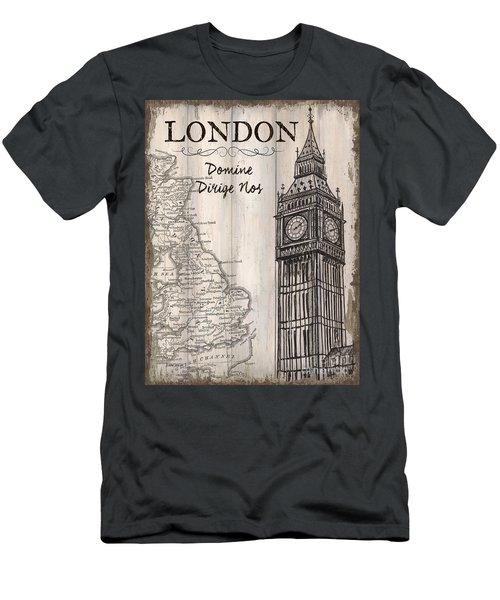 Vintage Travel Poster London Men's T-Shirt (Athletic Fit)