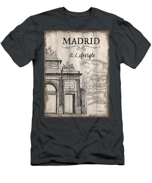 Vintage Travel Poster Madrid Men's T-Shirt (Athletic Fit)