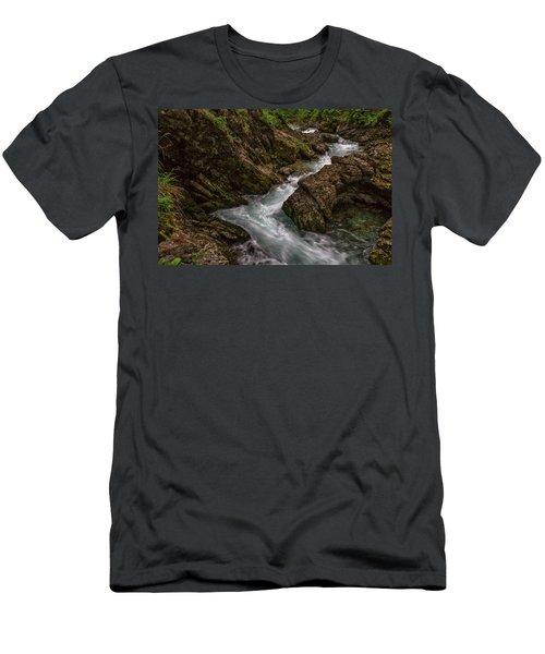 Men's T-Shirt (Athletic Fit) featuring the photograph Vintgar Gorge Rapids - Slovenia by Stuart Litoff