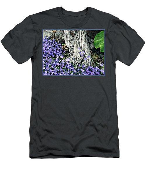 Violets At My Feet Men's T-Shirt (Slim Fit) by Sarah Loft