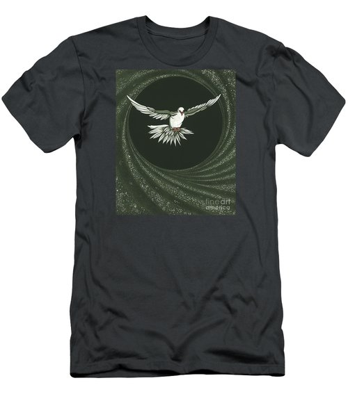Viriditas-holy Spirit Detail Men's T-Shirt (Slim Fit) by William Hart McNichols