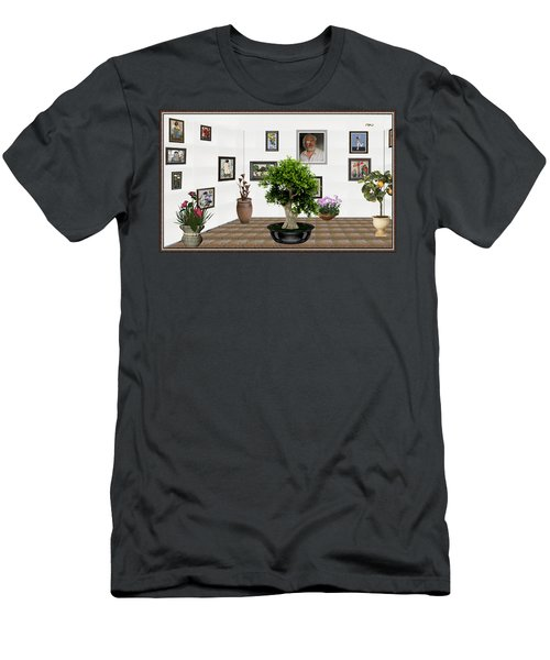 Virtual Exhibition -  Bonsai 13 Men's T-Shirt (Slim Fit) by Pemaro
