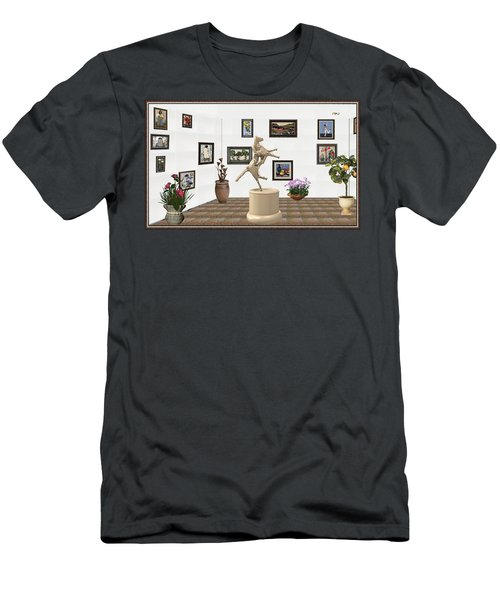 Virtual Exhibition_statue Of A Horse Men's T-Shirt (Slim Fit) by Pemaro
