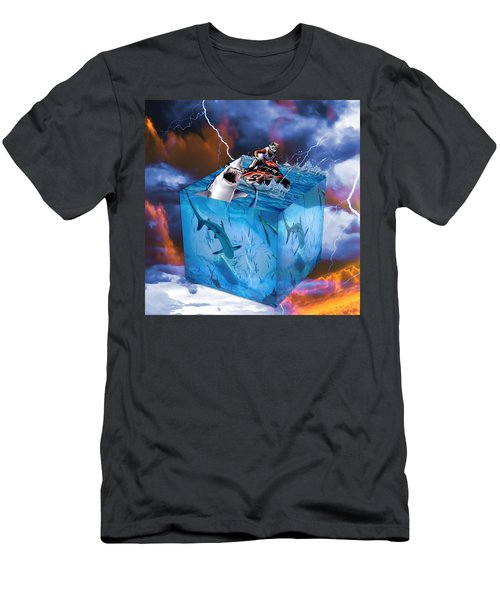 Men's T-Shirt (Athletic Fit) featuring the mixed media Vision by Marvin Blaine