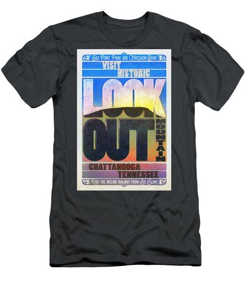 Visit Lookout Mountain Men's T-Shirt (Slim Fit) by Steven Llorca