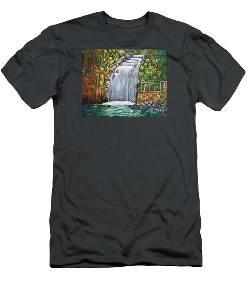 Visitors To The Falls Men's T-Shirt (Athletic Fit)