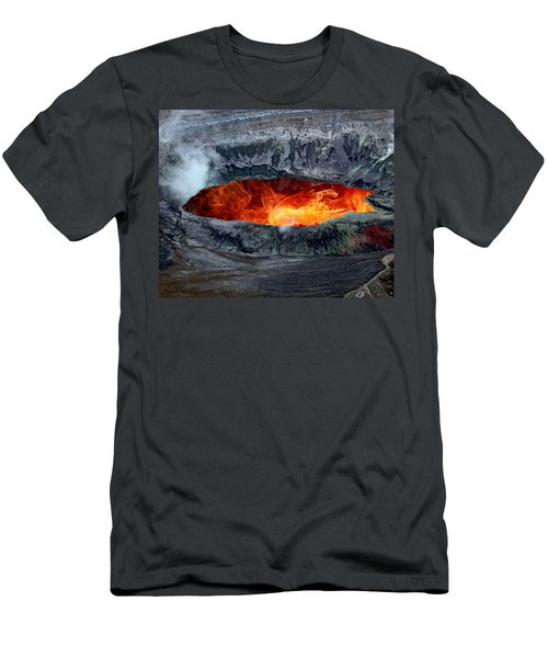 Volcanic Eruption Men's T-Shirt (Slim Fit) by Anthony Dezenzio