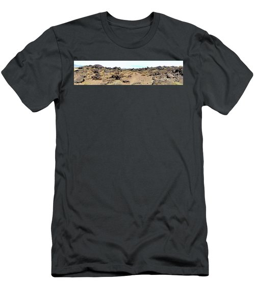 Volcanic Field Panorama Men's T-Shirt (Athletic Fit)