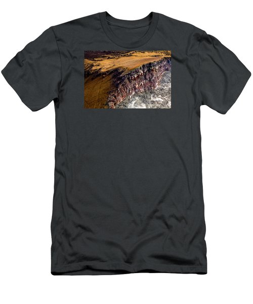 Men's T-Shirt (Slim Fit) featuring the photograph Volcanic Ridge II by M G Whittingham